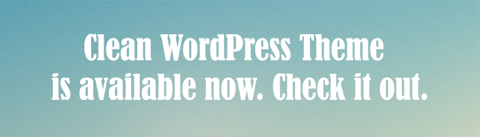 Clean WordPress
