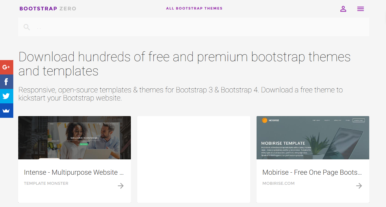5 free responsive bootstrap themes templates websites for Free bootstrap templates 2016