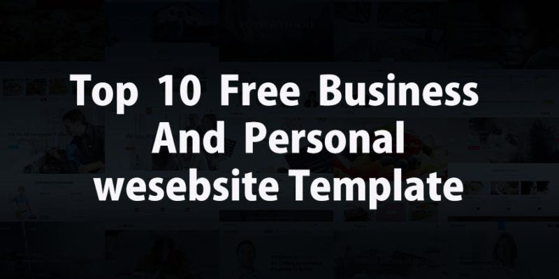 Top 10 Free Responsive Website Templates for Professional and Personal Websites