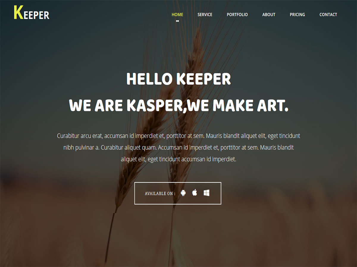 Keeper - One Page Bootstrap Template - Script Eden