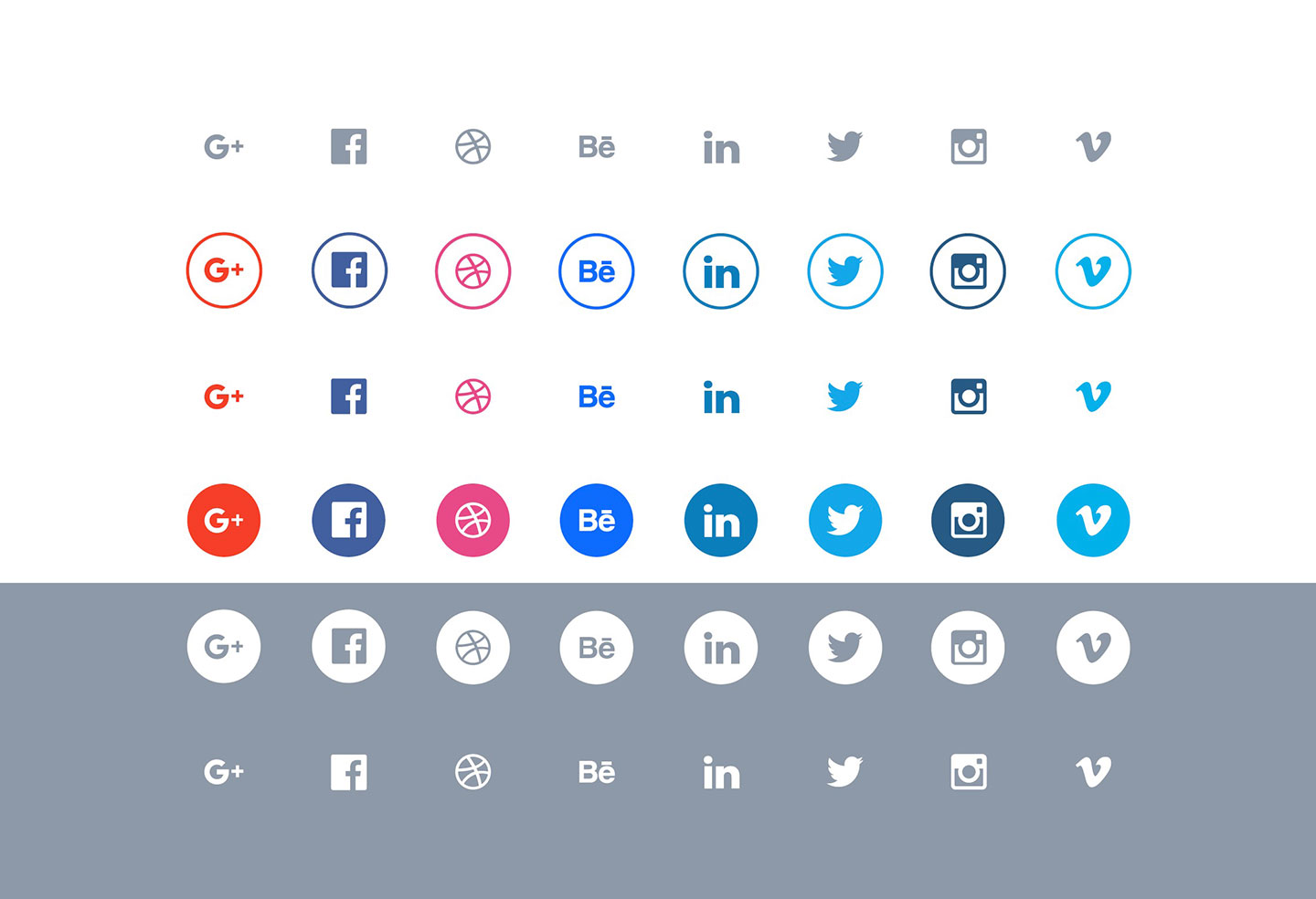 The 10 Best Excellent Free Flat Social Media Icons Sets For Web