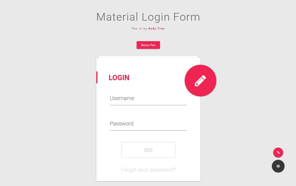10 Free Html5 And Css3 Login Formtemplates For Your Website