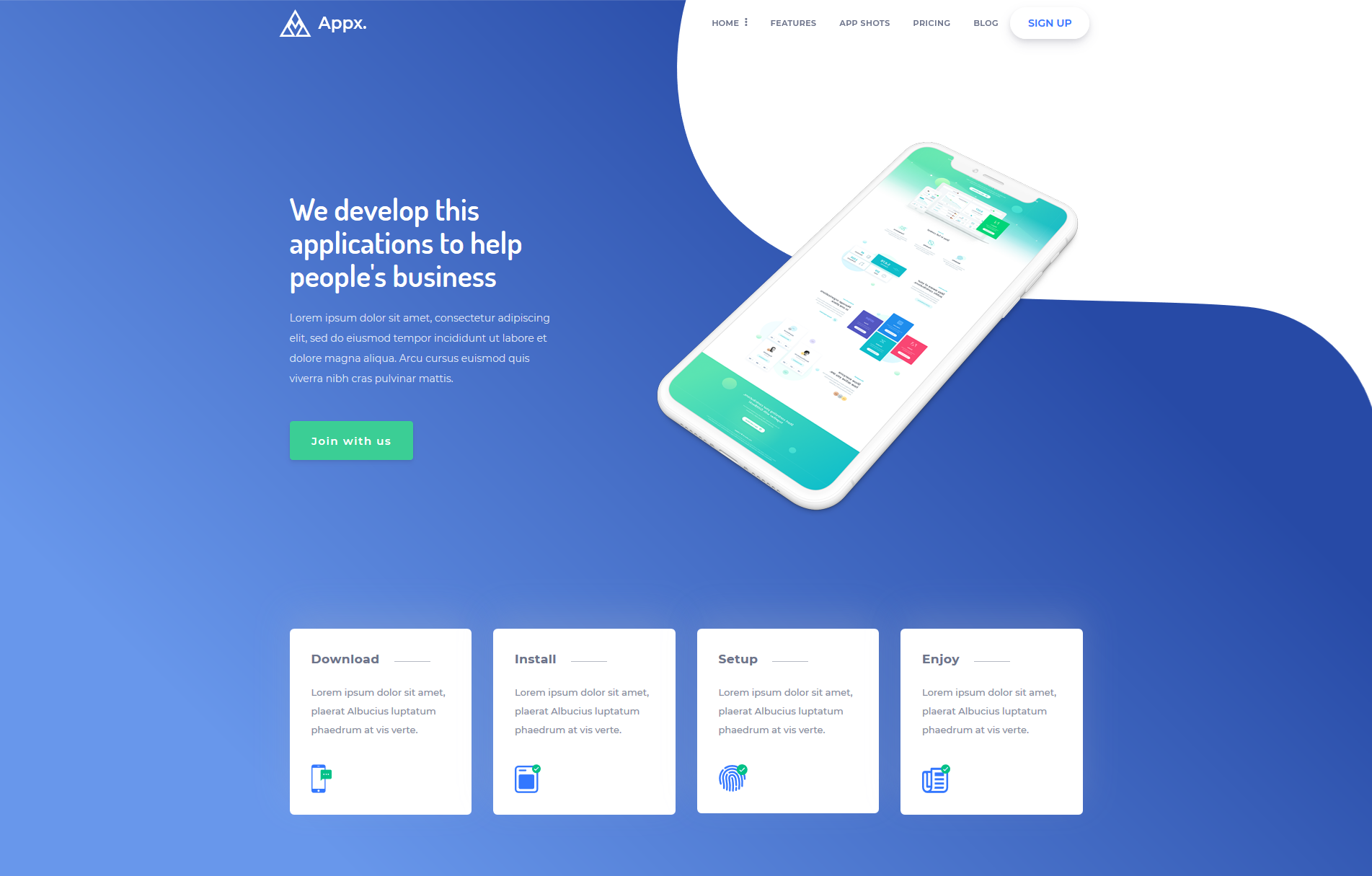 Appx- App Landing Page Template Appx- App Landing Page Template -