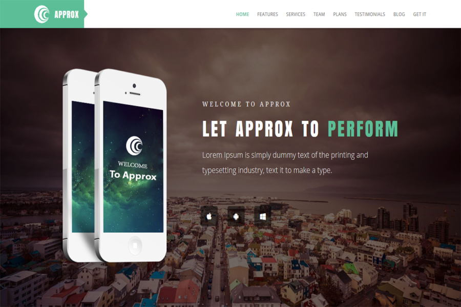 Approx - Responsive Landing Page